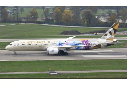 "Etihad Airways B787-9 """"Choose Singapore"""" A6-BLR 1:400"