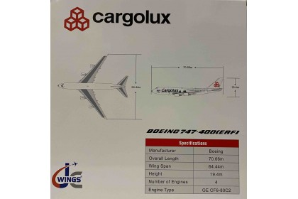 "Cargolux Boeing 747-400F(ERF) ""Sea Life Trust Livery"" Reg: LX-ECV With Antenna 1:400"