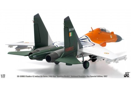 """SU-30MKI Flanker-H, Indian Air Force 24th Sqn """"Hunting Hawks"""", National Republic Day Special 1997 (scale 1:72)"""
