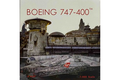 "Virgin Atlantic ""Star Wars The Millennium Falcon"" B747-400 G-VLIP (1:400 scale)"