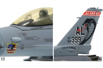 U.S. Air Force ANG, 160th Fighter Squadron, 187th Fighter Wing F-16C (1:72 scale)