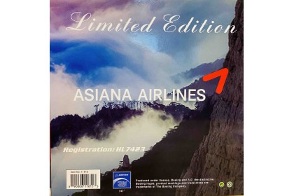 Asiana Airlines B747-400 HK7423 (1:400 scale)