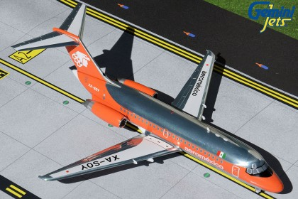 Aeromexico DC-9-15 1980s livery, orange/polished XA-SOY (1:200 scale)
