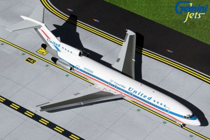 United Airlines B727-200 N7620U (stars & bars, blue titles)