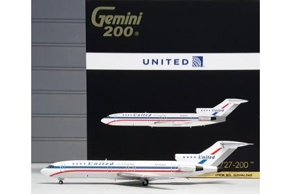 "United Airlines Boeing 727-200 N7620U ""stars & bars, blue titles"" (1:200 scale)"