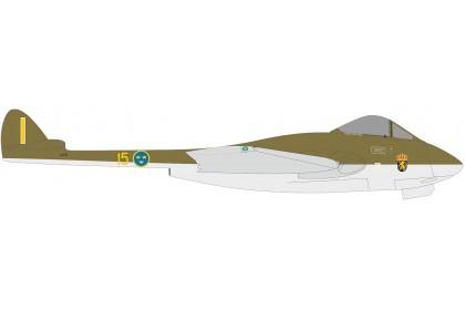 Royal Swedish Air Force De Havilland Vampire J 28B (FB.50) F15 (1:72 scale)