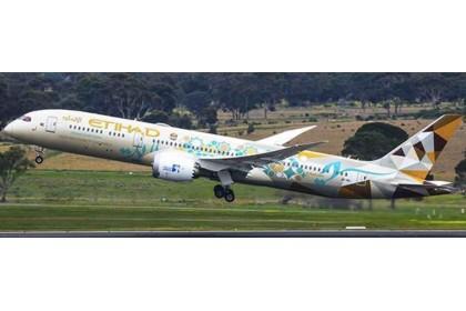 Etihad Airways Boeing 787-9 Dreamliner (ADNOC Livery) A6-BLI (1:400 scale)