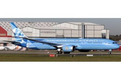 "Etihad Airways Boeing 787-9 Dreamliner ""Manchester City Livery"" (1:400 scale)"