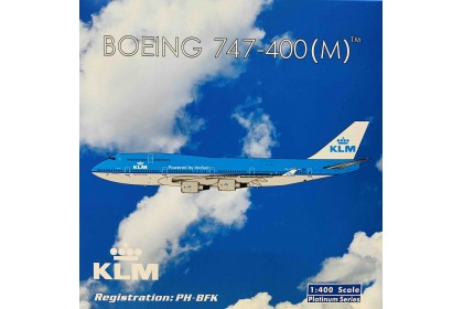 "KLM Royal Dutch Airlines B747-400 ""Powered by biofuel"" title PH-BFK (1:400 scale)"