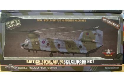 "British Royal Air Force Chinook HC1 ""Bravo November"" No.18 Sqaudron ZA718 (1:72 scale)"