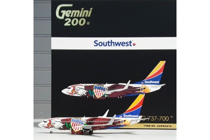 """Southwest Airlines Boeing 737-700 """"Illinois One"""" N918WN (1:200 scale)"""