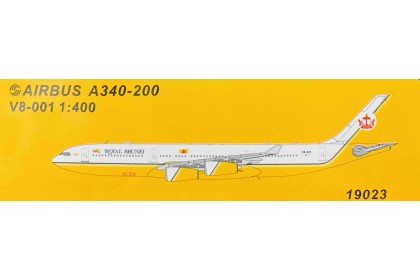 Royal Brunei A340-200 V8-001 (1:400 scale)