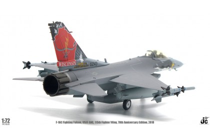 F-16C Fighting Falcon, USAF ANG, 115th Fighter Wing, 70th Anniversary Edition, 208, Reg: 86-0243 (1:72 scale)