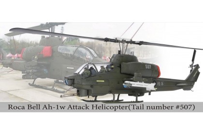 """Bell AH-1W """"Whisky Cobra"""" attack helicopter (L: AIM-9 Sidewinder + M260 7-tube 