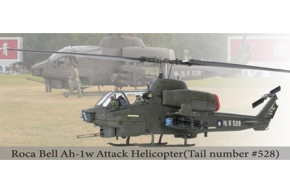 """Bell AH-1W """"Whisky Cobra"""" attack helicopter (L: TOW+M261 19-tube   R: Hellfire + M260 7-tube)(1:48 scale)"""