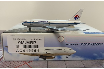 """Malaysia Airlines Boeing 737-200 9M-MBP """"Sabena Livery"""" (1:400 scale)"""
