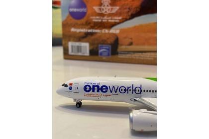 """Air Maroc """"One World"""" Boeing 787-8 Dreamliner CN-RGB (1:400 scale)"""