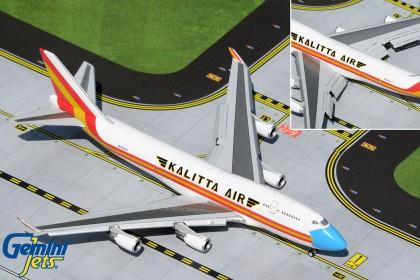 "Kalitta Air B747-400(BCF) N744CK ""mask livery, flaps down"" (1:400 scale)"