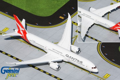 """Qantas Airways Boeing 787-9 VH-ZNK """"flaps down"""" (1:400 scale)"""