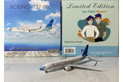 "Garuda Indonesia Boeing 737-800 PK-GFQ ""Ayo Pakai Masker"" livery"